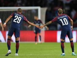 Mbappé y Neymar se llevan muy bien. (Foto: Getty)