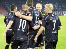 Großer Jubel beim FC Lugano