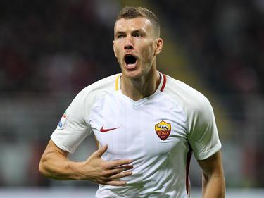 Edin Džeko erzielte das wichtige 1:0 für die Roma im Topspiel bei Milan