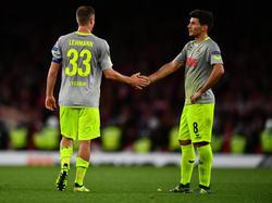 Für Matthias Lehmann (li.) kommt das Europa-League-Auswärtsspiel ungelegen