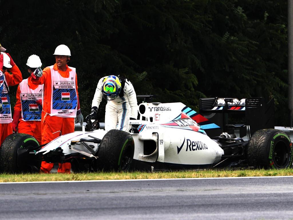 Felipe Massa machte unliebsame Bekanntschaft mit der Bande