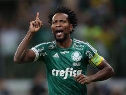Zé Roberto jubelt über seinen Treffer im brasilianischen Pokalfinale 2015