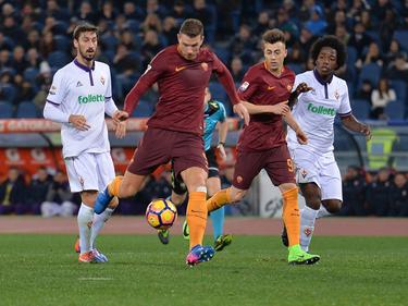 Edin Džeko anotó el primero de la AS Roma. (Foto: Imago)