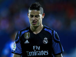 James Rodríguez von Real Madrid war nach seiner Auswechslung nicht zufrieden