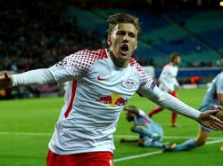Emil Forsberg erzielte das erste Champions-League-Tor für RB Leipzig
