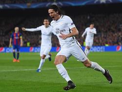 Cavani marcó en Barcelona pero al final quedó eliminado de la Champions. (Foto: Getty)