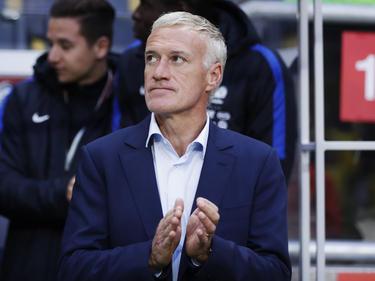 Frankreichs Nationaltrainer Didier Deschamps freut sich auf das Spiel gegen England.