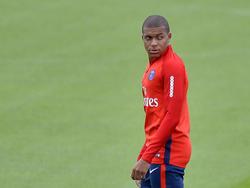 Kylian Mbappé greift für Paris Saint-Germain an