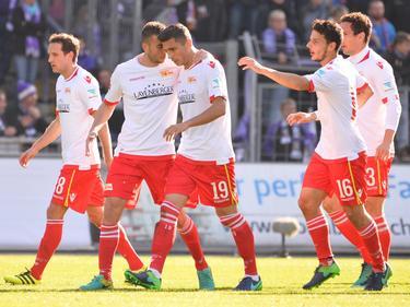 Der FC Union setzte sich bei Erzgebirge Aue durch