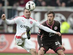 Oliver Fink (l.) fehlt Fortuna Düsseldorf auf unbestimmte Zeit