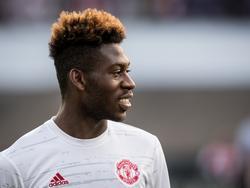 Timothy Fosu-Mensah voorafgaand aan het Europa League-duel van Manchester United bij Feyenoord. (15-09-2016)