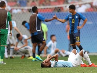 Gómez tras una derrota con las inferiores de la albiceleste (Foto: Getty)
