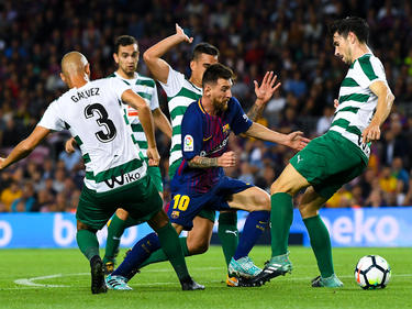 Messi ganó la batalla a todos los defensores del Eibar. (Foto: Getty)