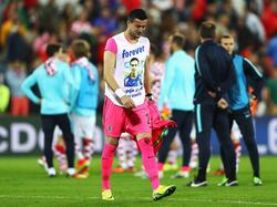 Kroatiens Keeper Danijel Subašić hadert mit dem Schicksal