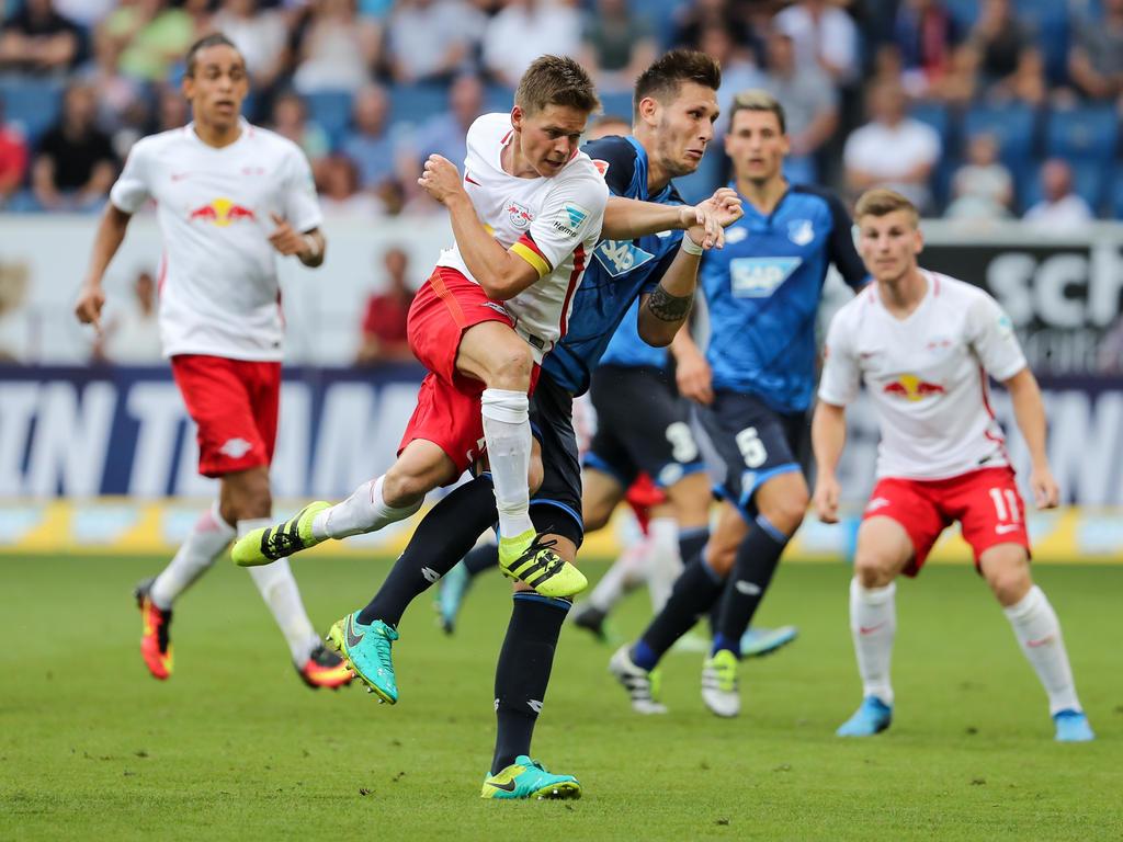 Dominik Kaiser erzielte das erste Bundesligator für RB Leipzig