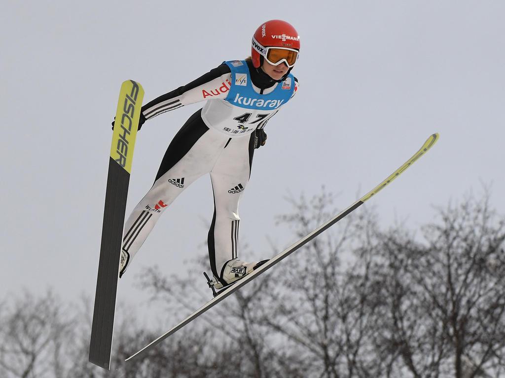 Katharina Althaus sprang in Slowenien auf Platz eins