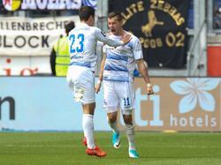Der MSV feierte gegen Großaspach einen 2:1-Heimsieg