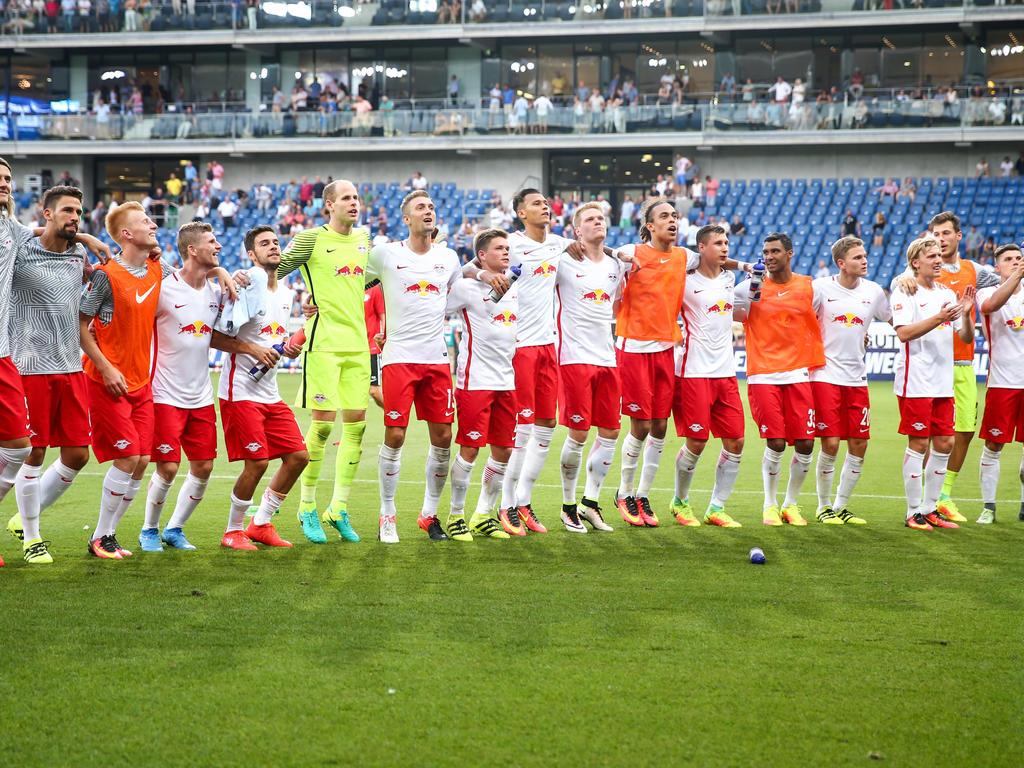 Die Roten Bullen feierten das Remis in Hoffenheim