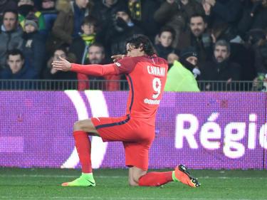 Cavani sigue en racha, anotó un doblete este fin de semana en la Ligue 1. (Foto: Getty)