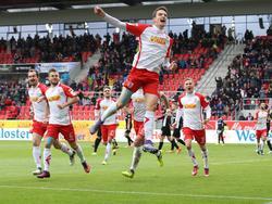 Sebastian Stolze bejubelte einen Doppelpack gegen Kaiserslautern