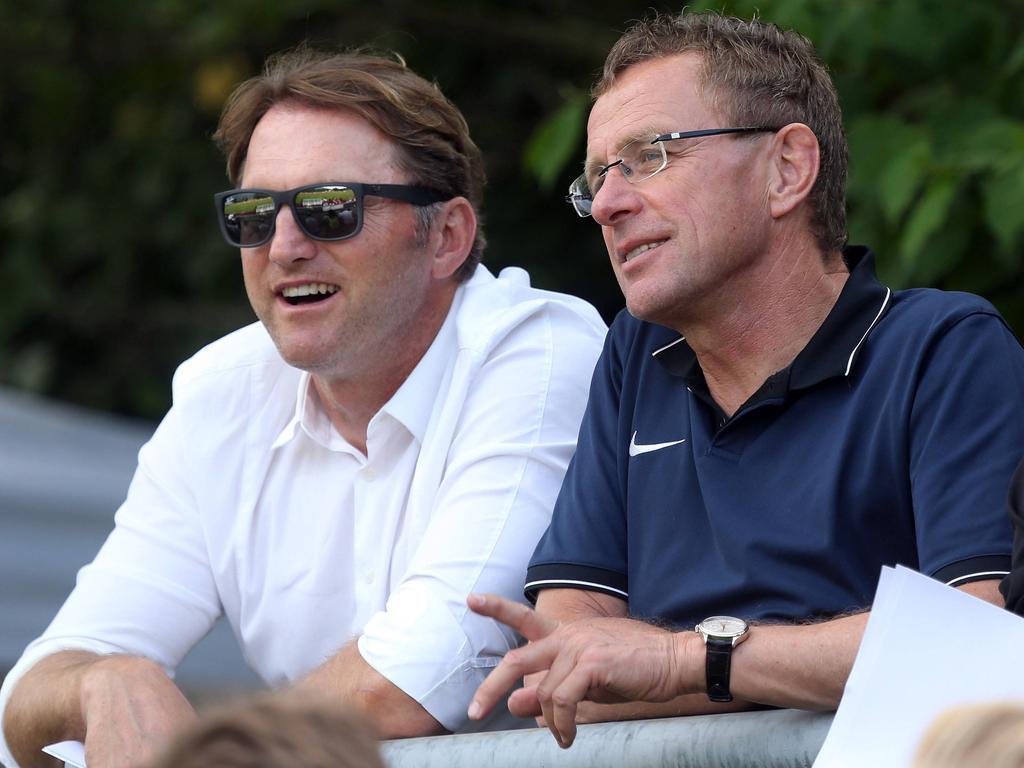 Ralf Rangnick (r.) mit RB-Coach Ralph Hasenhüttl