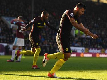 Sergio Agüero schießt ManCity vorübergehend an die Spitze der Premier League