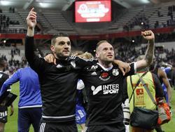 Los jugadores del Amiens celebran el ascenso tras el triunfo. (Foto: Imago)