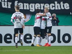 Der VfB setzte sich im Pokal souverän gegen den FCK durch