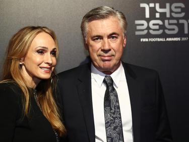 Carlo Ancelotti (re.) mit seiner Ehefrau
