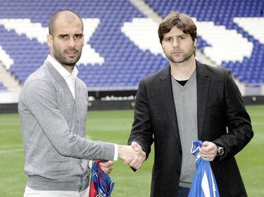 Pep Guardiola (l.) und Mauricio Pochettino (r.) in 2010