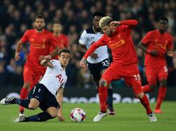Liverpool setzt sich gegen Tottenham im League Cup durch