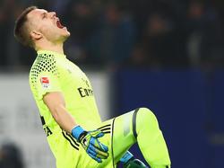Hamburgs Torwart Christian Mathenia hat sich im Spiel gegen Darmstadt eine schwere Knieprellung zugezogen
