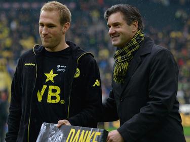 Florian Kringe (l.) war jahrelang für Dortmund am Ball