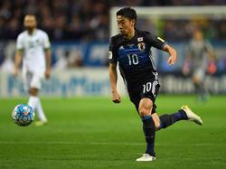 Dortmunds Shinji Kagawa bereitete das 2:0 der Japaner vor