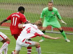 Bereits 2009 standen sich David Alaba (l.) und Bernd Leno (r.) im B-Junioren-Finale gegenüber