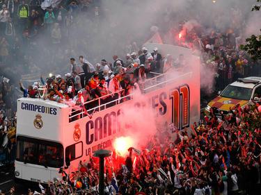 Die Campeones am Triumphzug ins Stadion