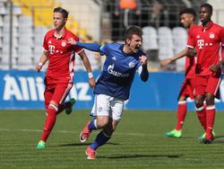Jannis Kübler traf für Schalke per Elfmeter