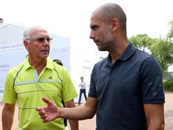 Franz Beckenbauer und Pep Guardiola