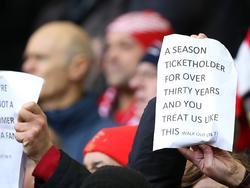 Die Fans des FC Liverpool protestierten gegen überhöhte Ticketpreise