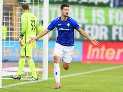 Antonio Čolak gelingt der 2:2-Ausgleich gegen Werder Bremen für seinen SV Darmstadt 98
