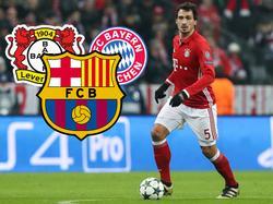 Mats Hummels könnte mit dem FC Bayern auf den FC Barcelona treffen