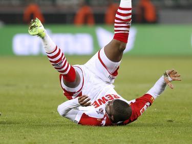 Anthony Modeste fiel gegen Schalke unglücklich auf die Schulter