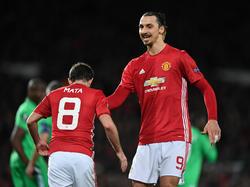 Zlatan Ibrahimović (r.) war der Matchwinner in Manchester
