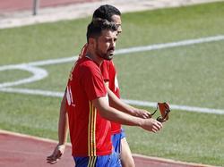 David Villa en un entrenamiento de esta semana con España. (Foto: Imago)