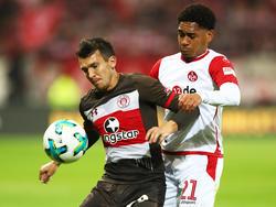 Im Duell FC St. Pauli gegen den 1. FC Kaiserslautern gab es keinen Sieger