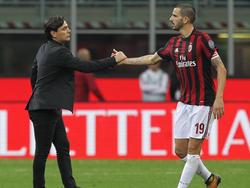 Vincenzo Montella (l.) muss Milan verlassen