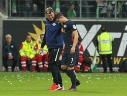 Marcel Sabitzer musste bereits in der Anfangsphase verletzt vom Platz