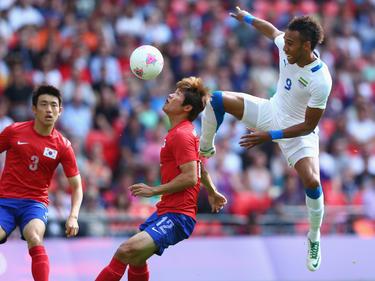 Aubameyang (r.) trainiert im National-Team unter einem neuen Coach