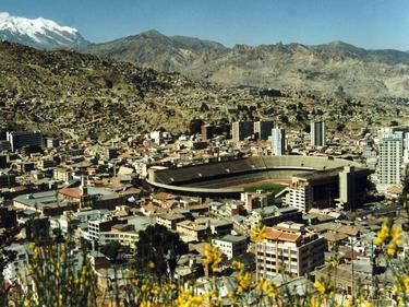 Vista aérea del estadio Hernando Siles de La Paz. (Foto: Imago)