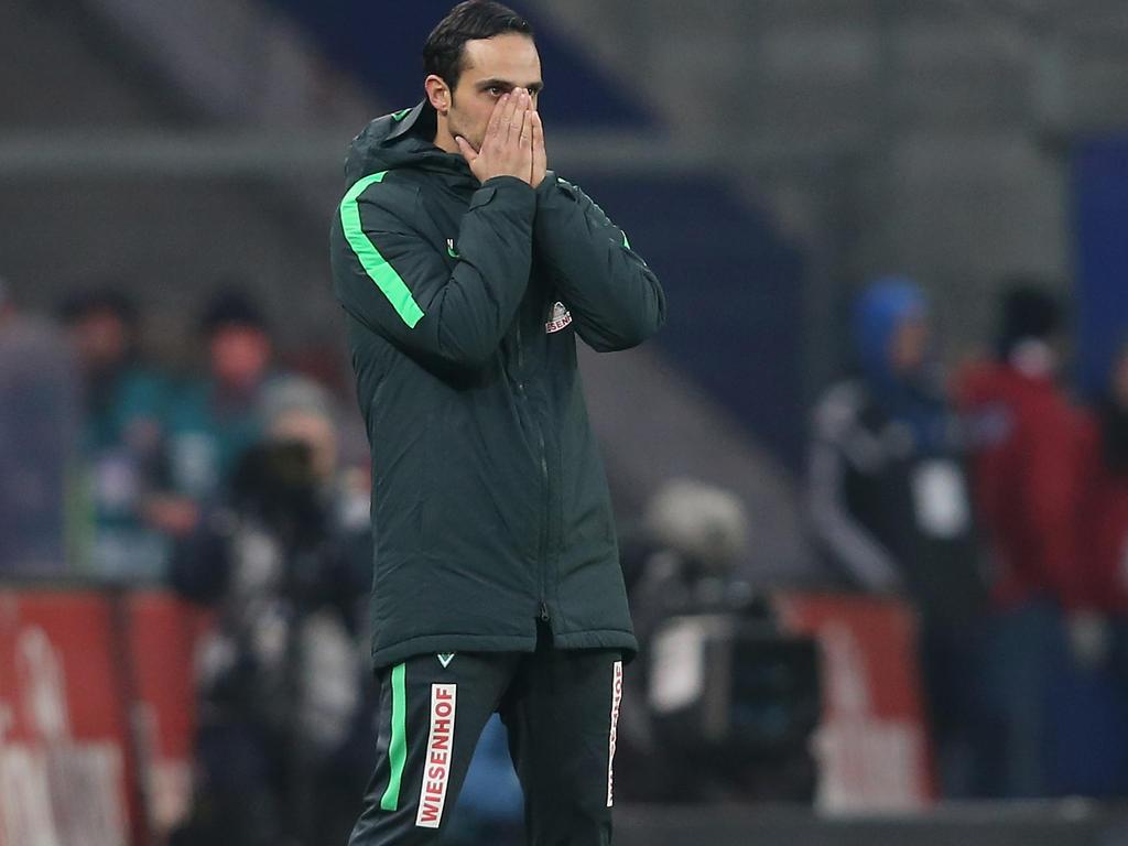 Werder-Trainer Alexander Nouri steht gegen Mainz unter Druck